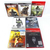 PS3 Game Lot Of 7 Call Of Duty Modern Warfare Black Ops Skyrim Resident Evil