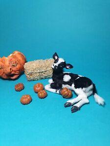 OOAK Realistic calf  cat  Dollhouse Handmade IGMA ARTISAN