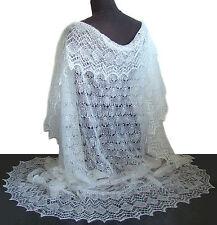 Chale Blanc, Idée Cadeau pour mariage, Chale mariage Tricoté à la main