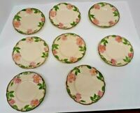 "Vintage Franciscan Desert Rose Set of 8 Bread & Butter 6.5"" Plates Made in USA"