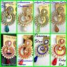 24k Goldplated Chandbali Earring Jhumki Jhumka Chandelier Indian Wedding Jewelry