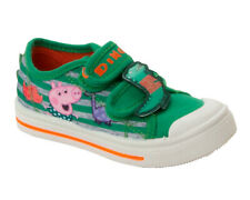 BOYS GEORGE PEPPA  PIG CASUAL CANVAS PUMPS TRAINERS SHOES KIDS UK SIZE 5-10
