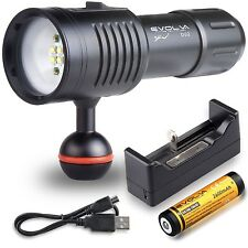 Underwater Video Camera Photography Light Torch Flashlight 100m (330ft) Sea Life