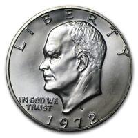 1972 S Eisenhower Ike %40 Silver Dollar $1 Brilliant Uncirculated