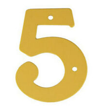 2'' Gold Anodised Numeral 5