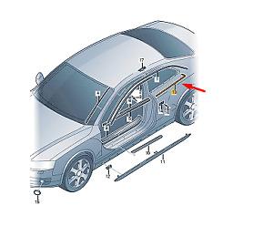 AUDI A5 8T Rear Right Quarter Window Trim  8T0853346HT94 New Genuine