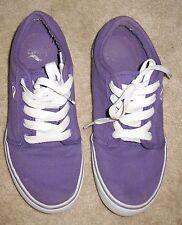 ADIO Men's Size 7.5 Skateboarding/Canvas SHOES (purple/white w/ laces) EUC