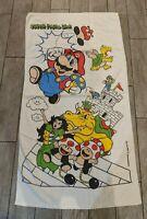 """1980s/90s Nintendo Super Mario Bros Towel Vintage Beach 50""""x28"""""""