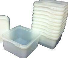 2.4 LITRI alimentare SIGILLATO vasche Sandwich Gelato Magazzinaggio Contenitori di Plastica x 25