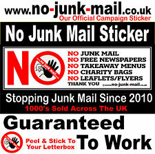 No Junk Mail Sign™, No Advertisements, Canvassers, No Leaflets,Flyers,UK BRN ID