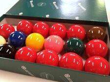 """GENUINE REAL ARAMITH SNOOKER BALLS Set 2"""" inch 10 Red Quality Premier edition"""