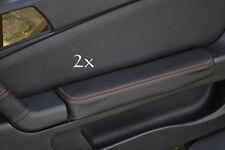 Se adapta a Alfa Romeo Gtv Cuero 2x Puerta Apoyabrazos cubre Naranja