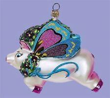 When Pigs Fly Christmas Tree Glass Ornament Decor