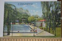 1945 Officers Swimming Pool - Fort McPherson - Atlanta Georgia Postcard