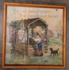 Antique Bernhard Ulmann Material Print The Old Oaken Bucket Samuel Woolworth