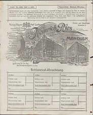 MÜNCHEN, Rechnung 1911, Landesprodukte und Kolonialwaren Heinrich Ries