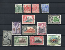 BRITISH SOLOMON ISLANDS KGV to QEII 13 DIFFERENT USED STAMPS