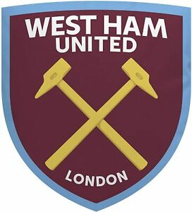 West Ham United Filled Cushion Official Licensed Product Crest Shape