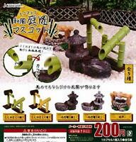 (Capsule toy) Miniature Japanese style garden mascot [all 5 sets (Full comp)]