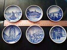 Lot of 6 Denmark Miniature Plates 3 1/4� Blue Dansk 2 16 20 33 45 46 2010