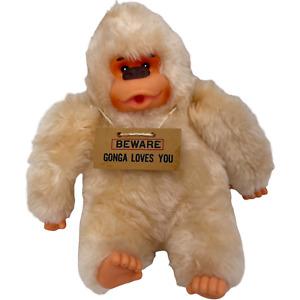 Vintage Russ Berrie Plush Beware Gonga Loves You Stuffed Toy Animal Gorilla Ape
