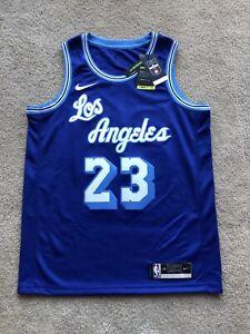 Lebron James Lakers Jersey HWC Blue Size 48 Nike Swingman Hardwood Classic