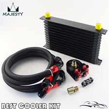 13 Row AN10 Trust Oil Cooler Filter Adapter Kit For Subaru WRX Honda Civic