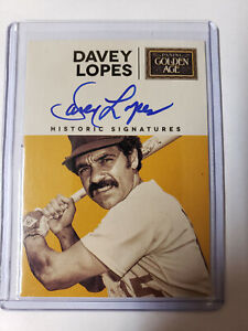 Davey Lopes Historic Signatures 2014 Golden Age
