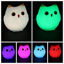 7 Colors~ Owl LED Nightlight, Touch Control, USB Connect