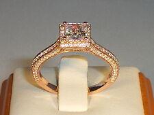 Solitäre Echte Edelstein-Ringe mit Saphir für Damen