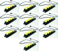 10x 4-fach Schuko Mehrfachsteckdose für Außen - Stromverteiler Steckdosenleiste