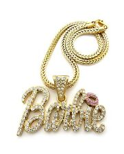 New BARBIE Pendant Chain Necklace Set 14k Gold Plated