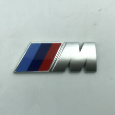 BMW M Sport Emblem Silver Sticker Rear Booth TrunkFender Badge 80x30mm Pair
