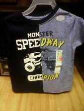 """Boys Graphic Tee Size 3T- """"MONSTER SPEEDWAY CHAMP""""Bluue Short Sleeve,  NWT"""