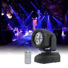 15W Mini 3 LEDs RGBW 4 in 1 Beam Moving Head Light Wash Stage Lamp V4G8