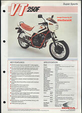 Genuine Honda-UK VT250F (1983-on) Data Sheet Sales Brochure MC08 VT 250 F AA39