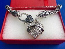 Teacher Rhinestone Heart Bling Bracelet Teacher appreciation Jewelry Crystal