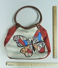 Women's RELIC Dark Coral Pink Butterfly Purse Ladies Hand Bag Tote Butterflies