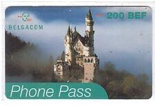 Belgium Belgacom Phone Pass Card - Château 200 BEF - Used/Usagée