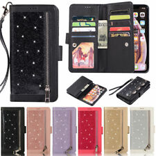 Glitter Wallet Leather Flip Case Cover For iPhone 12 Pro Max XR XS Max 11 8 Plus