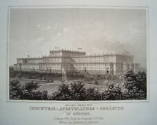 Munich Bavaria industrial exhibition building real age Steel Engraving 1842