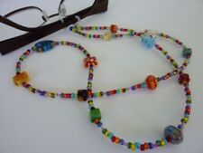 Millefiori Bead Spectacle Glasses Cord for Eyewear Includes spare ends!