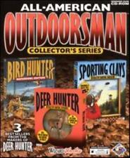 Bird Hunter Waterfowl, Deer Hunter 1 & Sporting Clays PC CD 3 gun shooting games