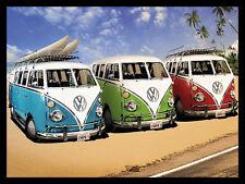 VW Camper Vans, Retro metal Sign/Plaque Wall vintage / Gift