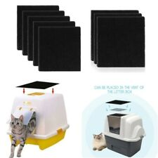 8X Charcoal Cat Litter Box Hooded Cats Litter Boxes Carbon Odor Filters Usa Ship