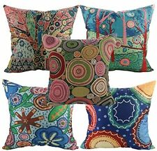 Set of 5 Cushions Cover Cotton Seat Garden Furniture Patio Chair Decor Pillow