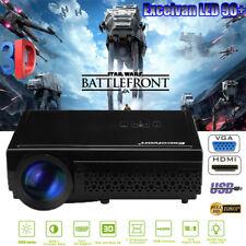 Full HD 1080P 5000Lumen LED 3D Beamer Projektor Projector HDMI*2/USB*2/VGA/TV DE