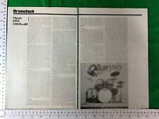 Olympic B1033 drum kit vintage feature / article / review 1979