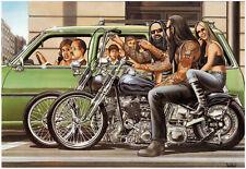 David Mann Poster Print - Harley Davidson - Wall Art Decor - Various Sizes