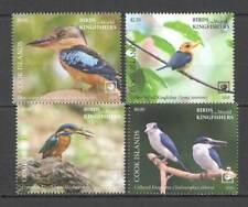 L1522 2020 SALE COOK ISLANDS KINGFISHERS BIRDS OF THE WORLD FAUNA SET MNH